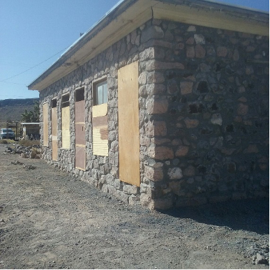 The completed wall