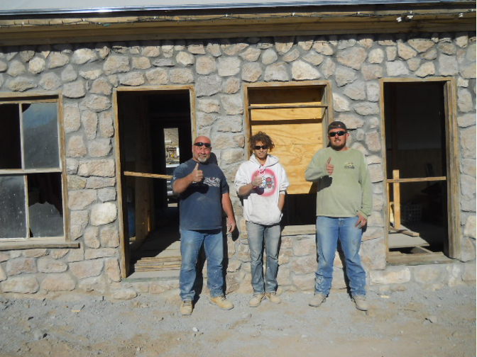 Joe Taylor (far left) and his awesome crew from Beatty, NV who made this all happen.